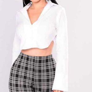 Fashionova cropped blouse